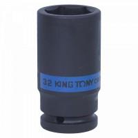 Головка торцевая ударная глубокая шестигранная 3/4 32 мм KING TONY 643532M
