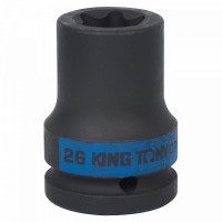 Головка торцевая ударная TORX Е-стандарт 3/4 E26 L = 56 мм KING TONY 657526M