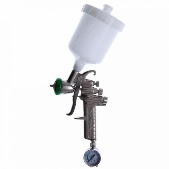 Краскопульт низкого давления 9011 HVLP сопло 15 мм верхний бачок кейс  ASTUROMEC 21015