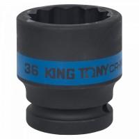 Головка торцевая ударная двенадцатигранная 3/4 36 мм KING TONY 653036M