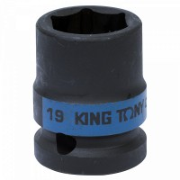 Головка торцевая ударная шестигранная 1/2 19 мм KING TONY 453519M