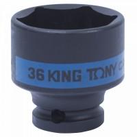 Головка торцевая ударная шестигранная 1/2 36 мм KING TONY 453536M