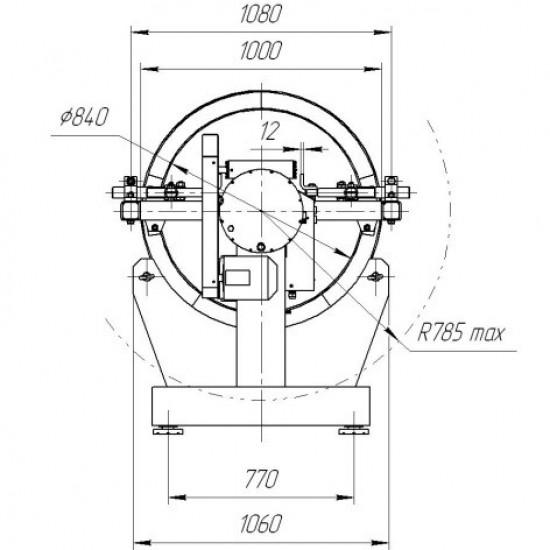Стенд для разборки и сборки двигателей Р776Е г/п 3000 кг