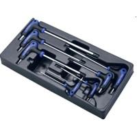Набор угловых ключей TORX, 7 предметов в ложементе Hans TT-19