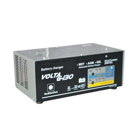 Зарядное устройство 6/12В 8-130 Ач. RedHotDot VOLTA G-130
