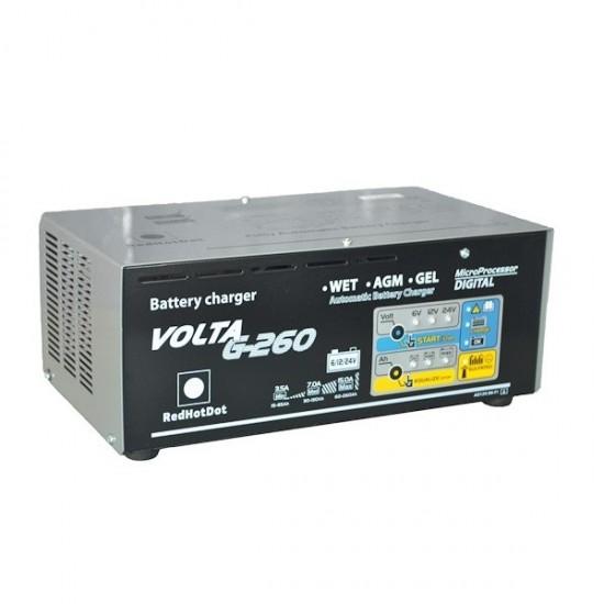 Зарядное устройство 6/12/24V 8-260 А/час. RedHotDot VOLTA G-260