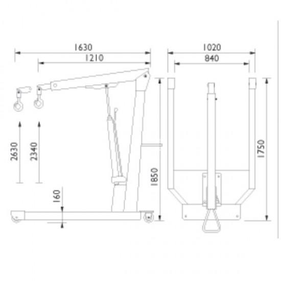 AC hydraulic WN20 Кран гидравлический не складной г/п 2000 кг