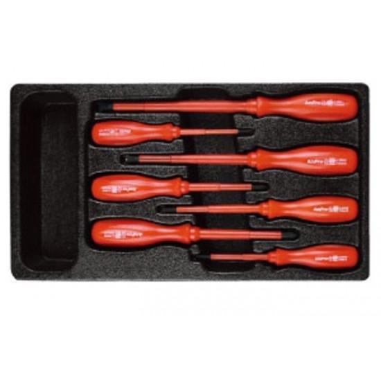 Набор диэлектрических отверток в ложементе, 7 предметов AmPro T32173