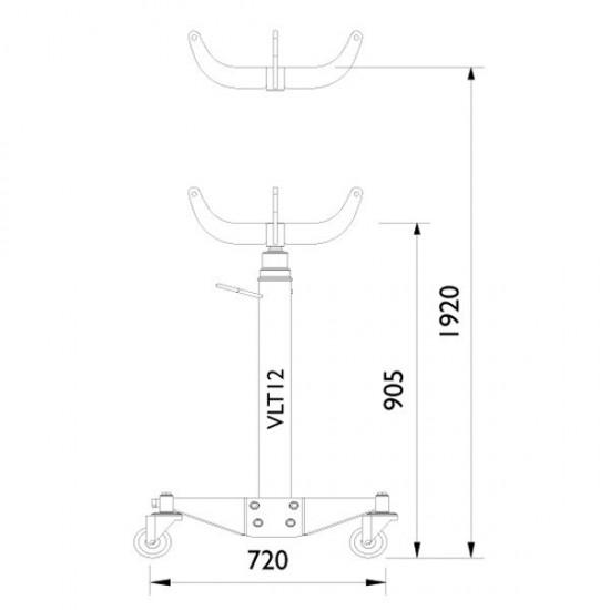 AC Hydraulic VLT12 Стойка трансмиссионная гидравлическая г/п 1200 кг