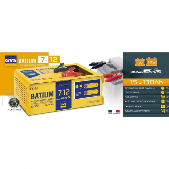 GYS BATIUM 7/12(024496) Автоматическое микропроцессорное зарядное устройство