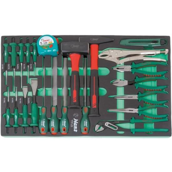 Набор слесарного инструмента, 23 предмета в ложементе Hans TTF-23