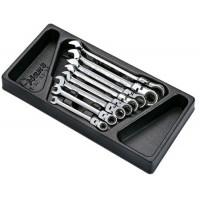 Набор комбинированных ключей, 8 предметов в ложементе HANS TT-33
