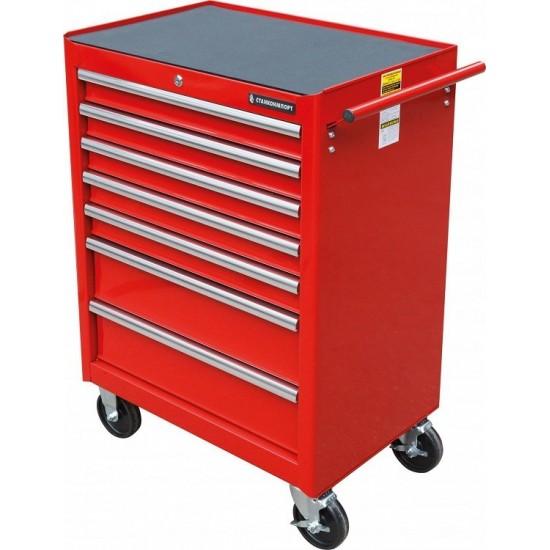 BTD-270071CS red Тележка инструментальная с 7 ящиками