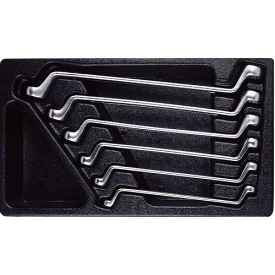 Набор накидных ключей 6 предметов (8-19мм) в ложементе AmPro T40693