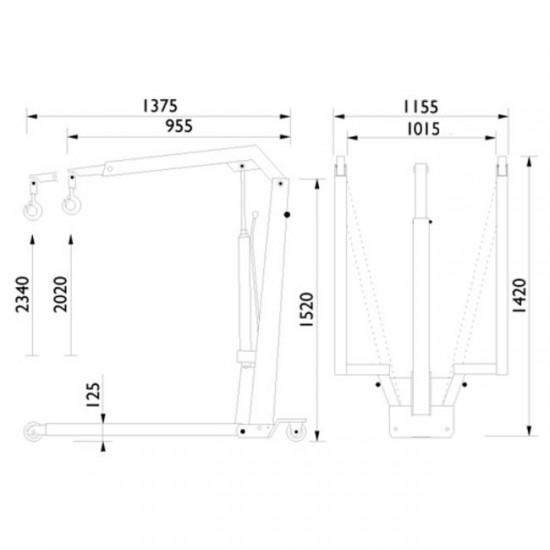 AC hydraulic WJN10 Кран гидравлический складной г/п 1100 кг