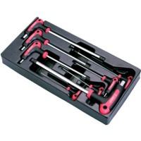 Набор угловых шестигранных ключей, 8 предметов в ложементе Hans TT-20