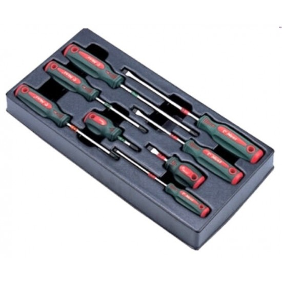 Набор отверток, 8 предметов в ложементе Hans TT-10