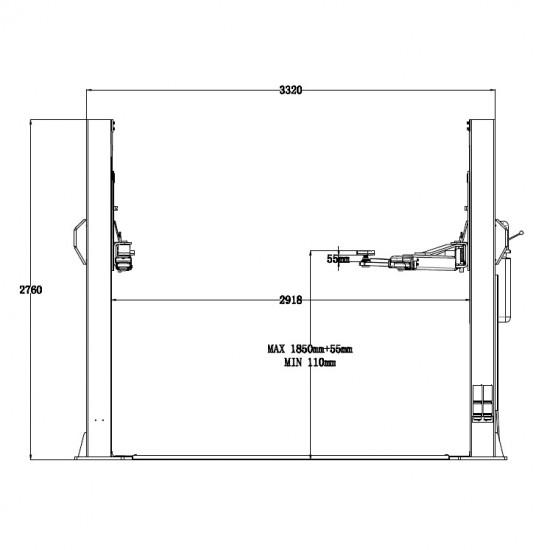 Trommelberg TST55W Подъемник двухстоечный г/п 5500 кг