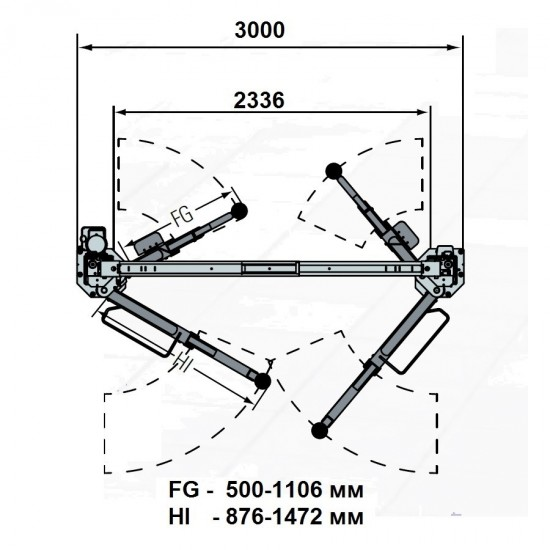 Rotary SPOA3TS-5-EH1 Подъемник двухстоечный г/п 3500 кг