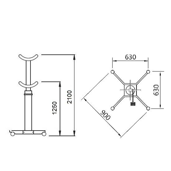 APAC 1611 Стойка трансмиссионная двухступенчатая г/п 1500 кг