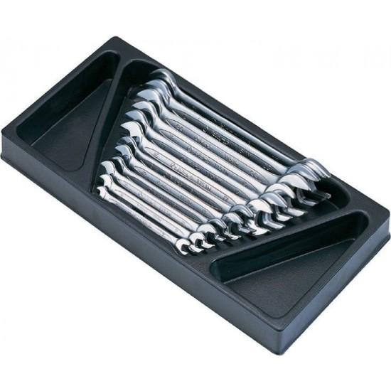 Набор рожковых ключей, 12 предметов в ложементе Hans TT-5