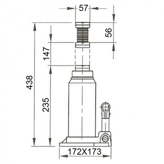 Бутылочный домкрат г/п 30 т Compac CBJ 30