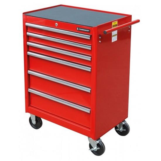 BTD-270061CS red Тележка инструментальная с 6 ящиками