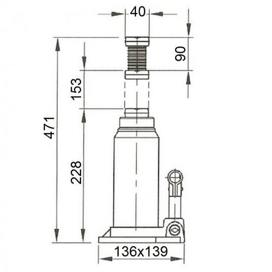 Бутылочный домкрат г/п 10 т Compac CBJ 10