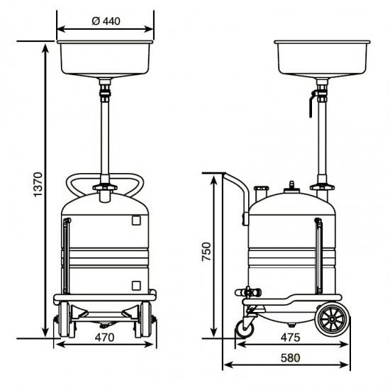 Samoa 373400 Установка для слива отработанного масла 70 л
