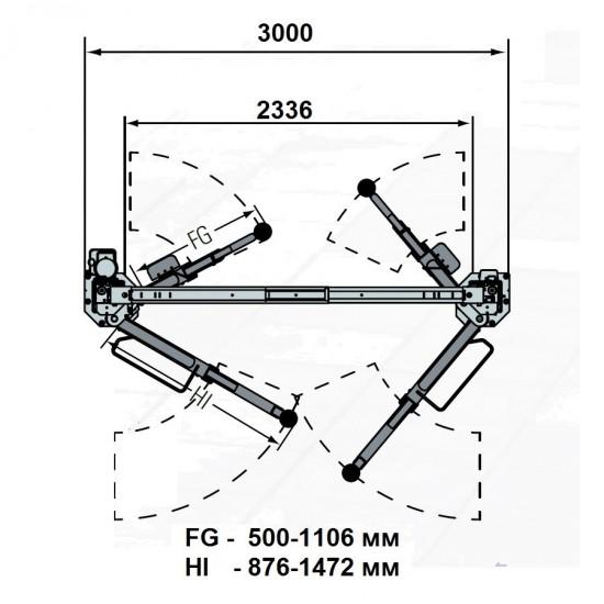 Rotary SPOA40M-5-EH2 Подъемник двухстоечный г/п 4500 кг