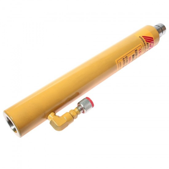 JTC-8P102 Цилиндр гидравлический 10т,  1/4, 3/8,  шток 250мм,  d=45мм,  453-707мм