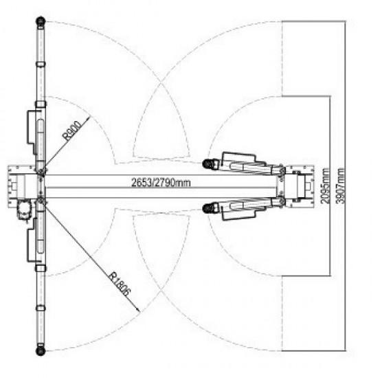 ATIS A255М Подъёмник двухстоечный электрогидравлический г/п 5500 кг