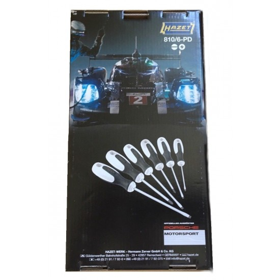 Набор отверток HAZET PORSCHE MOTORSPORT 810/6-PD