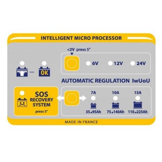 GYS BATIUM 15-24 (024526) Автоматическое микропроцессорное зарядное устройство
