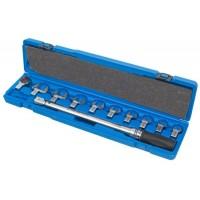 Динамометрический ключ 40-200 Нм с набором рожковых насадок KING TONY 345202D11MR