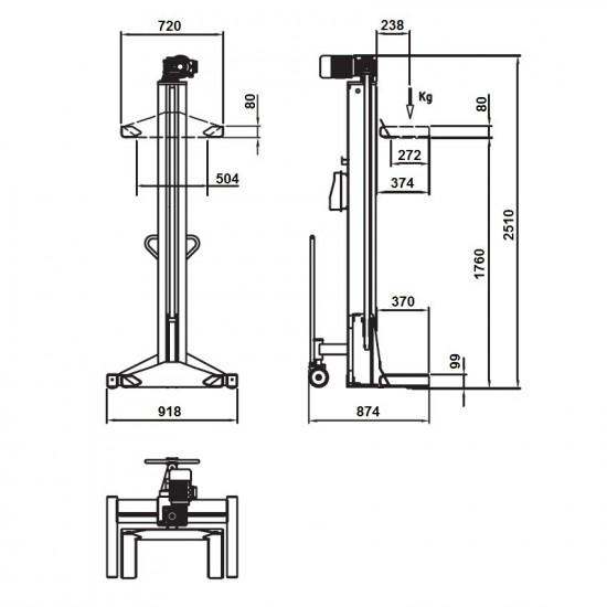 OMA LTW558C+8 Колонны подкатные г/п 8х5,5 т. электромеханические