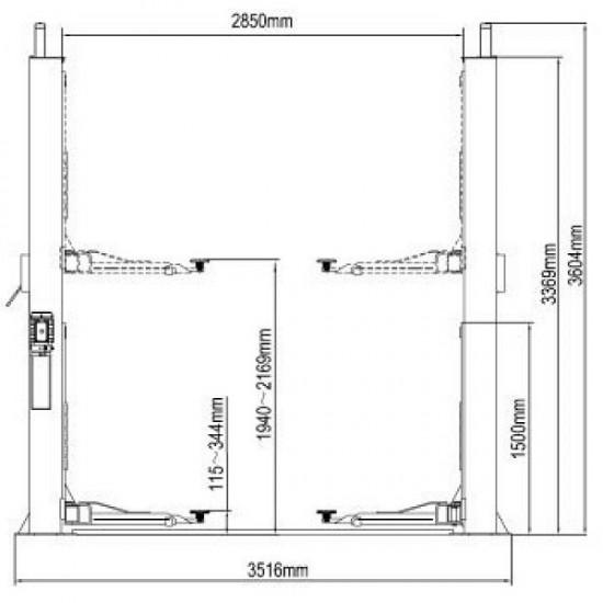 ATIS A245 Подъёмник двухстоечный электрогидравлический г/п 4500 кг