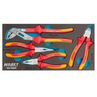 Набор губцевого инструмента для электрика, 4 предмета в ложементе HAZET 163-226/4