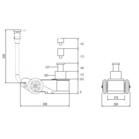 NORDBERG N302 Домкрат пневмогидравлический 15-30 тонн (складной)