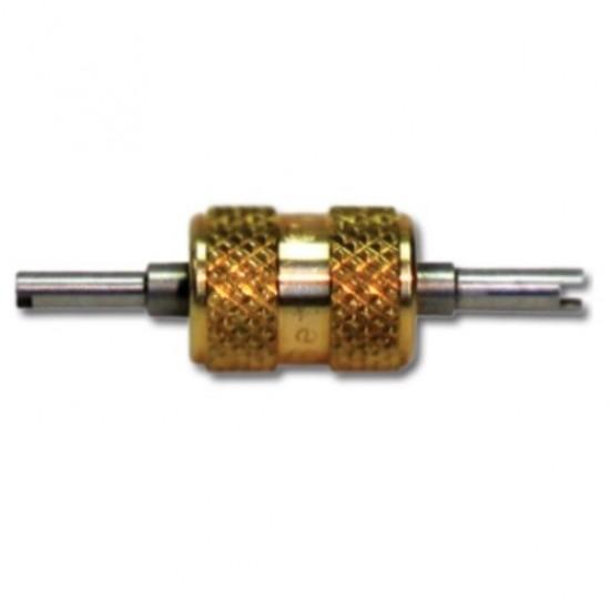 Сервисный ключ для замены ниппелей золотников в системах кондиционирования