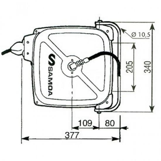 SAMOA 500116 Катушка для воздуха с шлангом 12 м x 10 мм