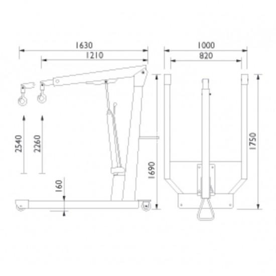 AC hydraulic WN15 Кран гидравлический не складной г/п 1500 кг