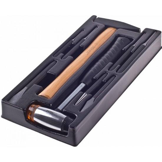 Набор молотки и выколотки, 9 предметов в ложементе Hans TT-13