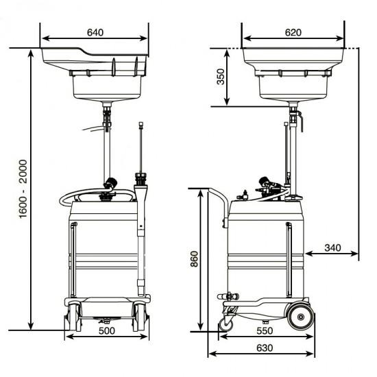 Samoa 372500 Комбинированная установка для слива и откачки масла 100 л