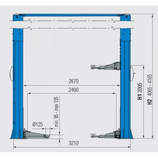 Ravaglioli KPH370.50K Подъемник двухстоечный г/п 5000 кг